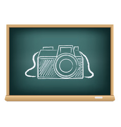 blackboard photo camera vector image vector image