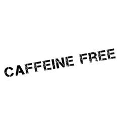 Caffeine free rubber stamp vector