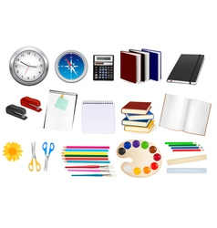 collection of stationery vector image vector image