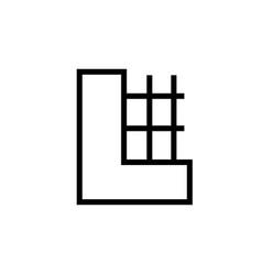 construction building icon vector image vector image