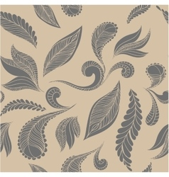 Doodle seamless pattern feathers vector image vector image