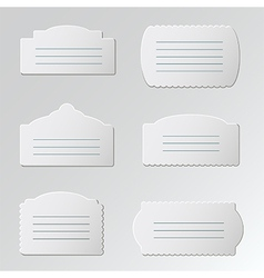 Gray label vector image