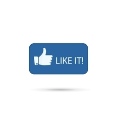 Hand Thumb up icon Like it vector image