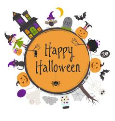 happy halloween frame vector image vector image