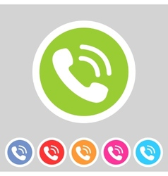 phone telephone flat icon vector image vector image