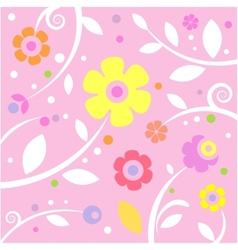 Sweet pink pattern vector image