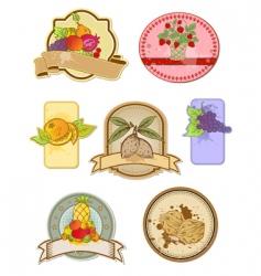vintage food labels vector image vector image