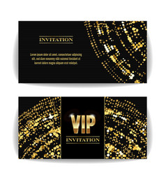 Vip invitation card sequins round dots vector