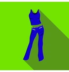 Woman pantsuit icon flat style vector image vector image