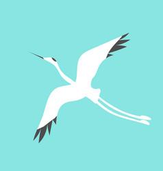 crane bird logo vector image