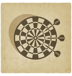 darts old background vector image vector image