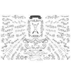 Doodles borderarrowsdecor element Floral hand vector image