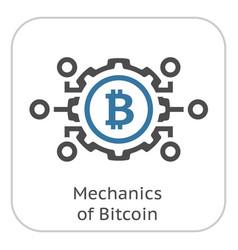 mechanics of bitcoin icon vector image vector image