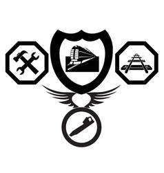railroad emblems vector image vector image
