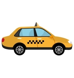 yellow taxi car graphic vector image