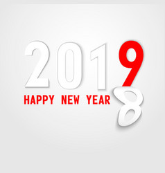 2019 new year on the background vector image