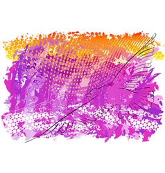 abstract background with flying seagull vector image