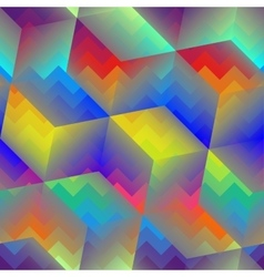 Abstract geometric cubes pattern vector