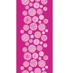Abstract textured pink circles vertical border vector image