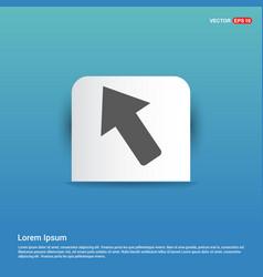 Arrow icon - blue sticker button vector