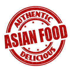 asian food sign or stamp vector image