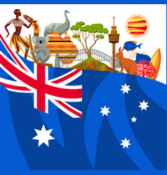 Australia background design australian vector