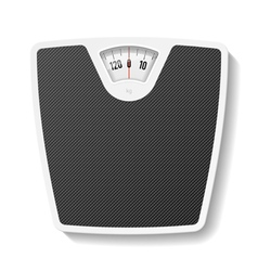 Bathroom scale vector image