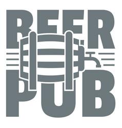 Beer pub logo simple gray style vector