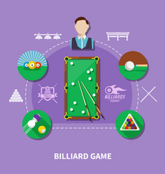 billiard game composition vector image