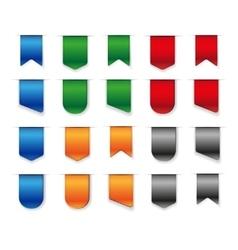 Blank ribbon set vector