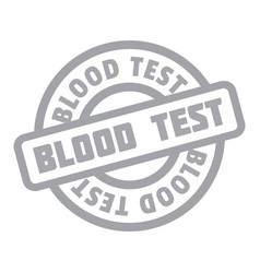 blood test rubber stamp vector image