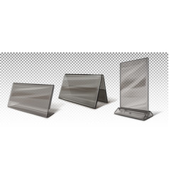 Business card holders stands for advertising vector