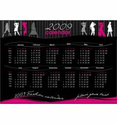 calendar for 2009 vector image
