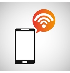 cellphone connection wifi multimedia icon vector image