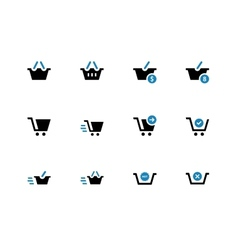 Checkout duotone icons on white background vector image