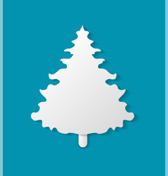 christmas paper cut fir-tree vector image