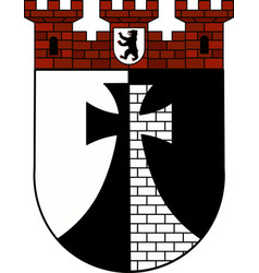 Coat of arms of kreuzberg in berlin germany vector
