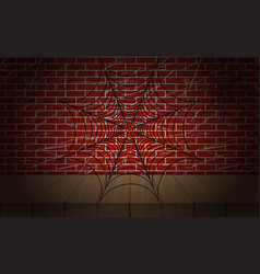 cobweb on brick wall as vector image