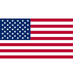 Colored flag of the USA vector image