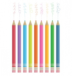 colour sketching pencils vector image