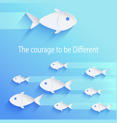 Courage to be different vector