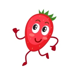 Cute and funny comic style wild strawberry vector