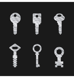 Door key set eps 10 vector image