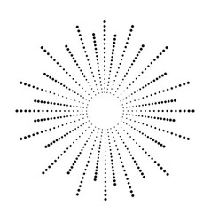 dot sunburst vector image