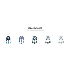 Dreamcatcher icon in different style two colored vector