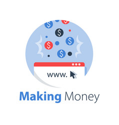 Earn money online pay per click vector