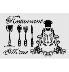 Elegant card for restaurant menu vector image