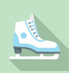 figure ice skate icon flat style vector image
