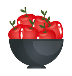 Fruits on dish vector