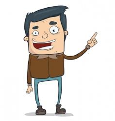 funny dude vector image